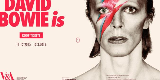 B8 David Bowie is -poster