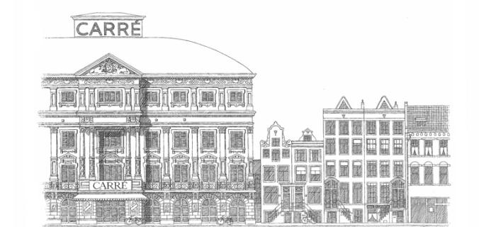 B9 Theater Carré -tekening