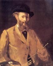 Manet, 'Zelfportret met palet' (1879)