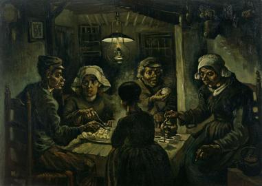 Vincent van Gogh, 'De aardappeleters' (1885)