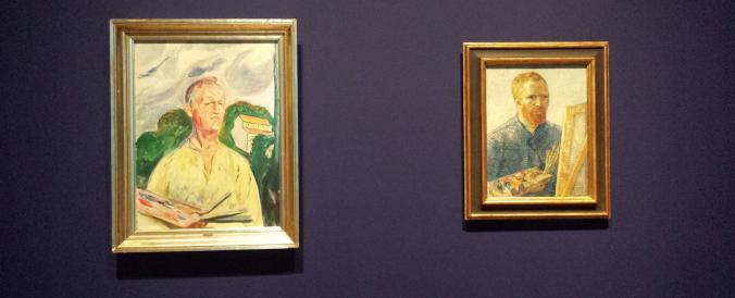 B11 Zelfportretten Munch (1926) en Van Gogh (1888)
