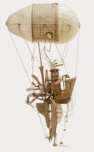 H2 De lucht in!: Daniel Agdag maakt fantastische miniaturen van onder andere karton.