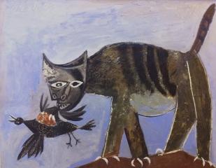 Uit H4 Dieren. Welk werk van Picasso spreekt je meer aan? En welk werk laat het karakter van de kat zien?