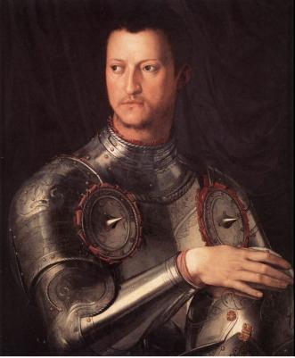 Agnolo Bronzino, 'Portret van Groothertog Cosimo I van Florence' (1545).