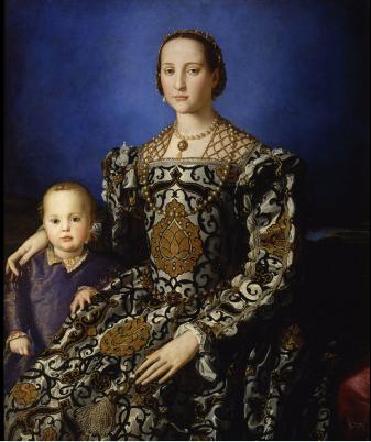 Agnolo Bronzino, 'Portret van Eleonora di Toledo en haar zoon Giovanni' (1545).