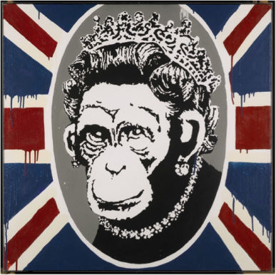 Banksy's 'Monkey Queen' (2003)