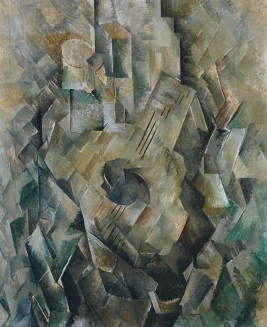 A. George Braque, 'La guitare' (1909-10).