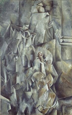 B. Wolfgang Beltracchi, vervalsing van George Braques 'Violon et palette' uit 1910, (1992).