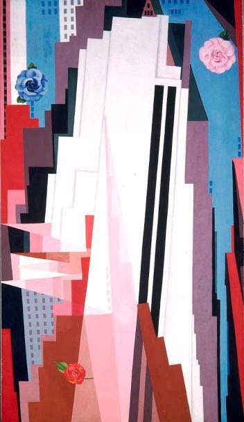 B. Georgia O'Keeffe, 'Manhattan' (1932).
