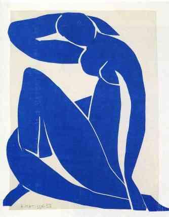 B. Henri Matisse, 'Nu bleu II' (1952).