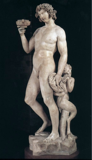 A. Michelangelo, 'Bacchus' (1496-97).