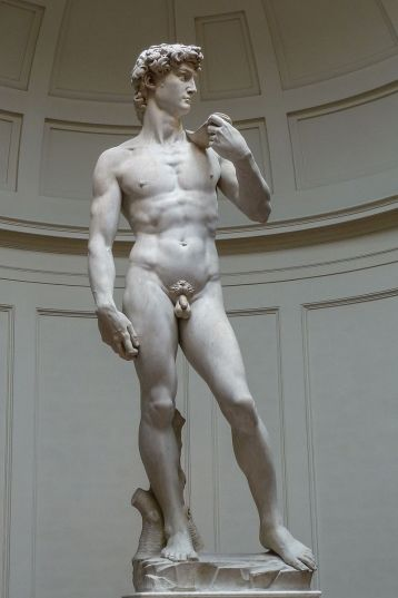 B. Michelangelo, 'David' (1501-04).