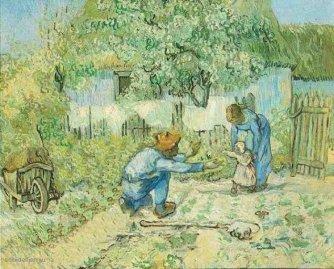 B. Vincent van Gogh, 'Eerste stappen' (1980).