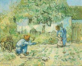 A. Vincent van Gogh, 'Eerste stappen' (1980).