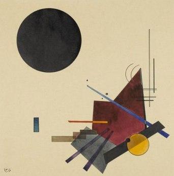 A. Vassili Kandinsky, 'Black Relationship' (1924).