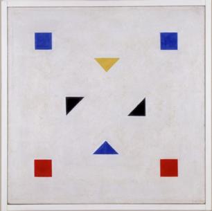 Van der Leck, 'Compositie' (1918-920).