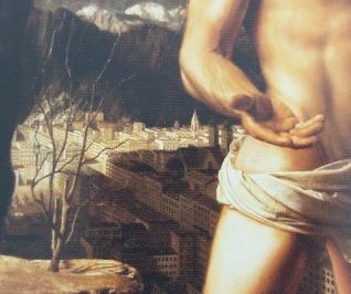 Willink, De kluizenaar (1938), detail achtergrond.