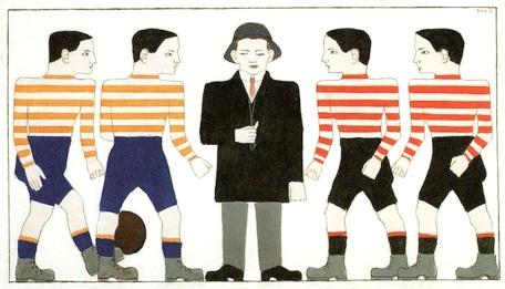 B72 Leck-Voetballers en scheidsrechter (1913)