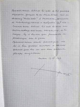 Pagina 2 van het contract.